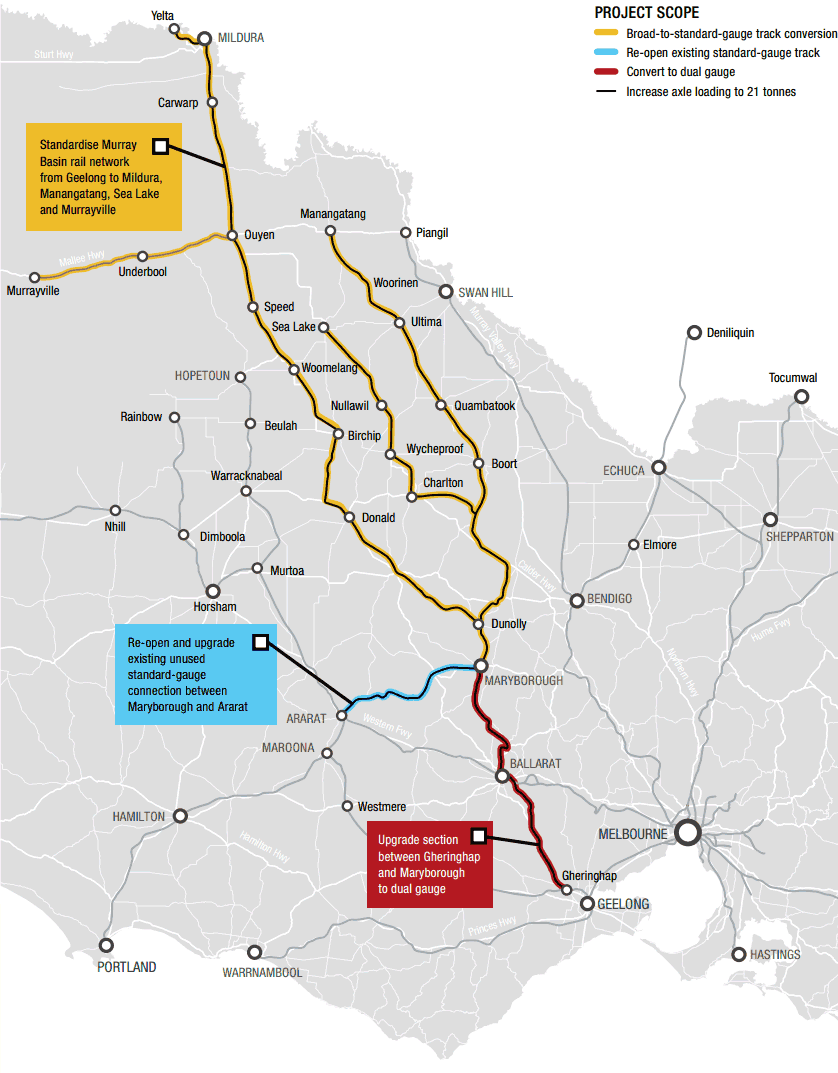 Murray Basin rail map
